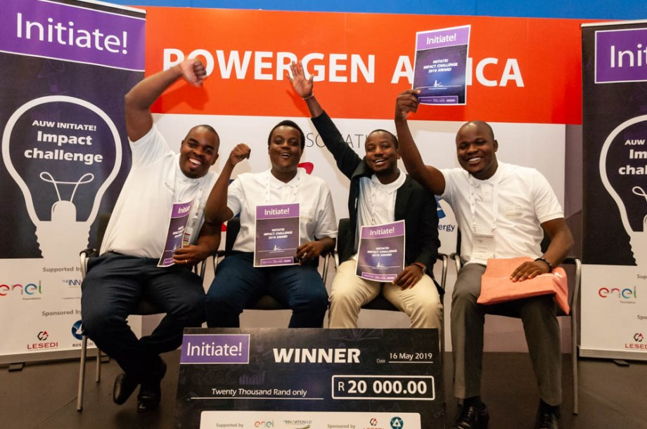 Strathmore University's winning team at African Utility Week and POWERGEN Africa in May this year.