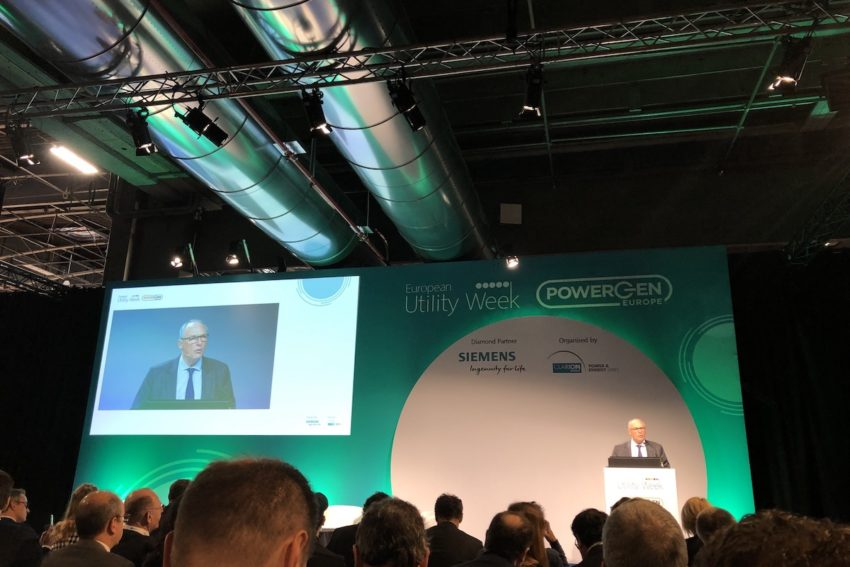 Enedis CEO Philippe Monloubou speaks at European Utility Week / POWERGEN Europe.