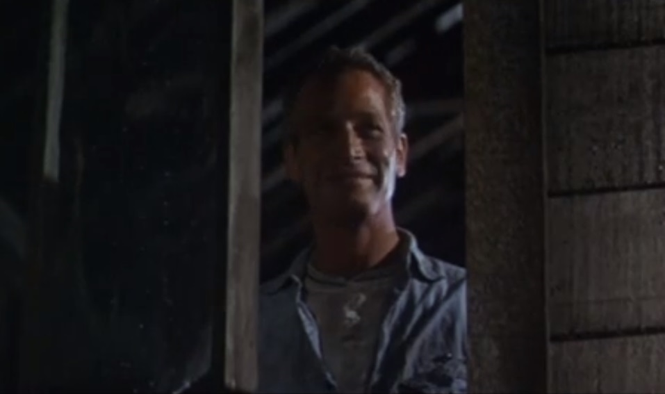 Lead image from the trailer of Cool Hand Luke. Credit: Warner Bros. Entertainment [Public domain]